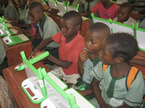 Thousands of kids, mostly from Third World countries, have received the inexpensive computers from the One Laptop Per Child Foundation